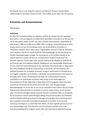 Text als pdf-file - Brandenburgische Technische Universität Cottbus