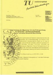 Allgemeinen Teils der Prüfungsordnung - Technische Universität ...