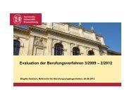 Evaluation der Berufungsverfahren 3/2009 – 2/2012