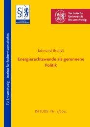 Energierechtswende als geronnene  Politik - Technische Universität ...