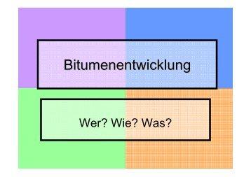 Bitumenentwicklung - Technische Universität Braunschweig