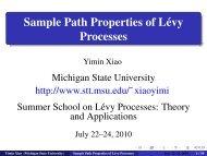 Sample Path Properties of Lévy Processes
