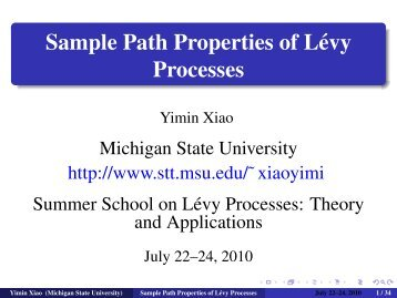 Sample Path Properties of Lévy Processes