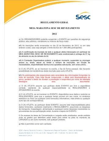 Revezamento Livre - SESC Tocantins