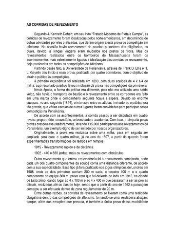 AS CORRIDAS DE REVEZAMENTO Segundo J. Kenneth ... - ADECT