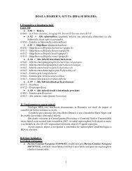 BOALA DIAREICA ACUTA metodologie - DSP Cluj