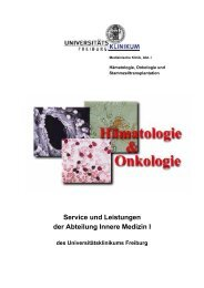 Service und Leistungen der Abteilung Innere Medizin I