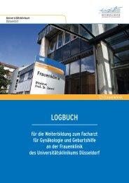 Logbuch Ausbildung - Universitätsklinikum Düsseldorf