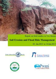 Soil Erosion and Flood Risk Management