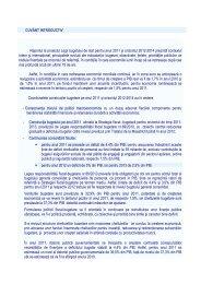 raport buget 2011 - Ministerul Finanţelor Publice