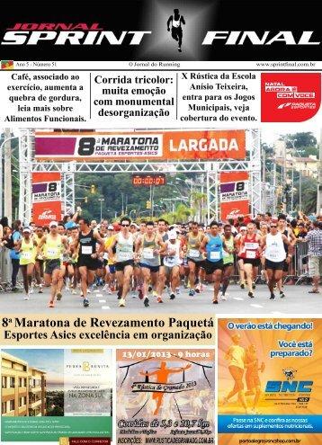 8a Maratona de Revezamento Paquetá - Jornal Sprint Final