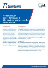 neutrale energieautarke Landwirtschaft - Universität Kaiserslautern