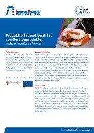 Produktivität und Qualität von Serviceprodukten - Universität ...