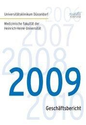 Geschäftsbericht - Universitätsklinikum Düsseldorf