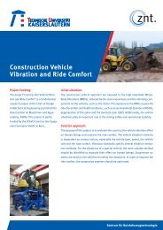 Construction Vehicle Vibration and Ride Comfort - Universität ...