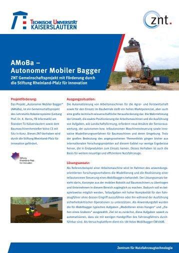 AMoBa – Autonomer Mobiler Bagger - Universität Kaiserslautern