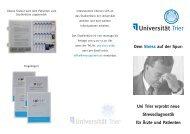 Info-Faltblatt der Uni Trier zur Stressmessung