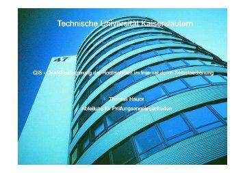 PC außerhalb der TU - Universität Kaiserslautern