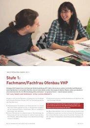 Modulbeschriebe Fachmann/Fachfrau Ofenbau VHP 2011