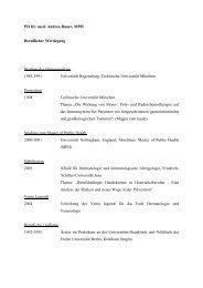 PD Dr. med. Andrea Bauer, MPH Beruflicher Werdegang Studium ...