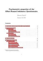 Psychometric properties of the Effort-Reward Imbalance Questionnaire