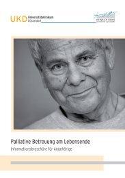 Palliative Betreuung am Lebensende - Universitätsklinikum Düsseldorf
