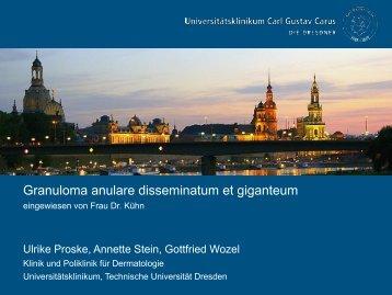 Granuloma anulare disseminatum et  giganteum