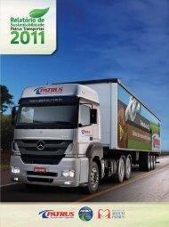 Relatório de Sustentabilidade 2011 - Patrus