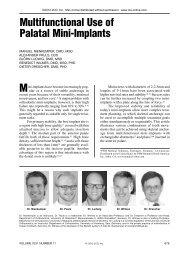 Multifunctional Use of Palatal Mini-Implants