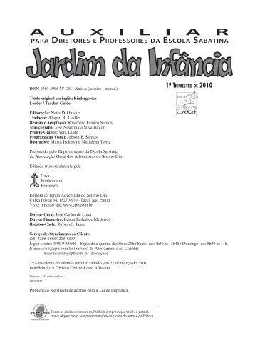 Jardim da Infância - Casa Publicadora Brasileira