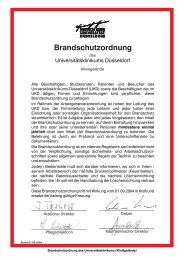 Brandschutzordnung - Universitätsklinikum Düsseldorf