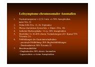 Leitsymptome chromosomaler Anomalien