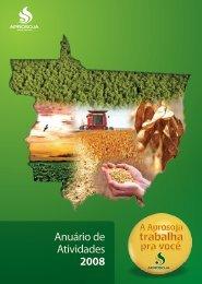 Anuario de Atividades 2008.pdf - Aprosoja