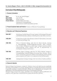 Curriculum Vitae/Bibliography