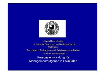 Thesen von Gisela Klann-Delius - CHE Ranking