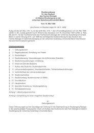 Studienordnung für das Studium des Faches Biologie im Diplom ...
