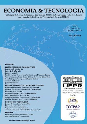 Boletim Economia & Tecnologia - Revista Economia & Tecnologia ...