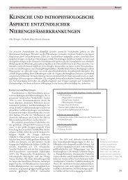 Klinische und pathophysiologische Aspekte entzündlicher ...
