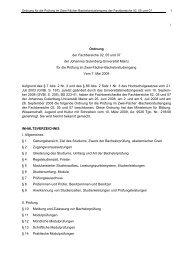 Ordnung für die Prüfung im Zwei-Fächer-Bachelorstudiengang