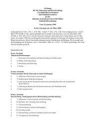 Einschreibeordnung - Johannes Gutenberg-Universität Mainz