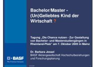 Vortrag Jessel: Bachelor/Master - (Un)