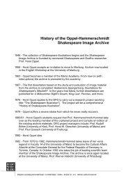 History of the Shakespeare Illustration Archive Oppel-Hammerschmidt