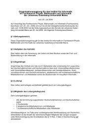 Institut für Informatik - Johannes Gutenberg-Universität Mainz