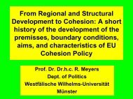 From Regional and Structural Development to Cohesion: A short ...