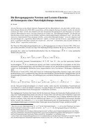 Die Bewegungsgesetze Newtons und Lorentz-Einsteins als ...