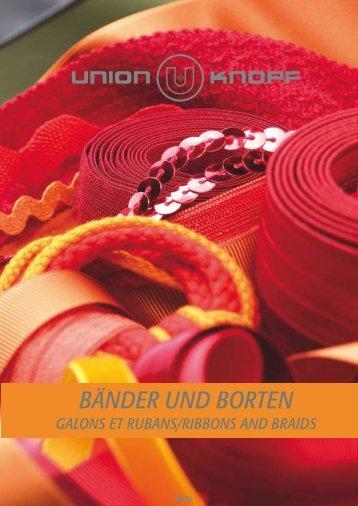 BÄNDER UND BORTEN - Union Knopf