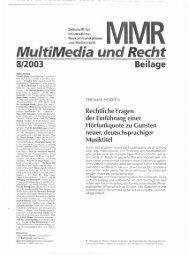 Page 1 Page 2 l. Problemstellung Die Musikindustrie in Deutschland ...