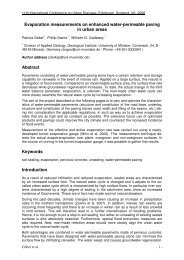 Evaporation measurements on enhanced water-permeable paving ...