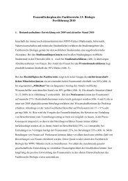 Frauenförderplan des Fachbereichs 13: Biologie - Universität Münster