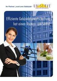 Effiziente Gebäudebewirtschaftung hat einen Namen: UNISERVE